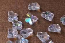 20pcs 10mm Butterfly Faceted Crystal Glass Charms Loose Spacer Beads Clear AB