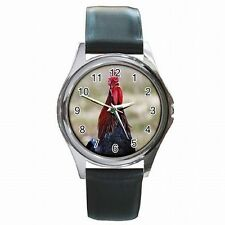 Rooster Chicken Farm Roosters Accessory Country Leather Watch New!