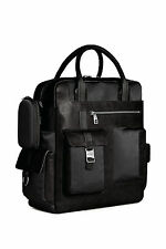 Piquadro Frame Black Vertical Computer Bag with 2 handles & mob. case CA1745FR/N