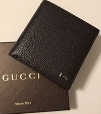 NWT GUCCI Men's 150405 DARK BROWN DOLLAR CALF BIFOLD WALLET W/CHANGE POCKET