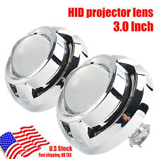 "2PCS AUTO 3 ""Mini HID Bi-Xenon Headlight Bulb Projector Lens H1 H4 H7Shroud Kit"