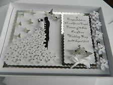 Handmade Personalised Card Wedding Day Anniversary Engagement Gift Box
