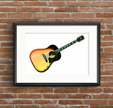 George Harrison's 1962 Gibson J-160E guitar POSTER PRINT A1 size