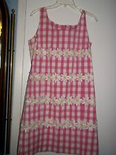 Lilly Pulitzer Pink And White Gingham Dress Size Medium 8-10