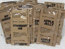 MRE 28 JELLY JAM PACKS  NEW MEALS READY TO EAT PREPPER SURVIVAL FAST SHIP SNACK