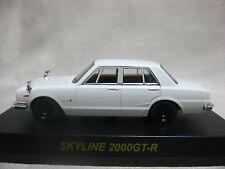 NISSAN SKYLINE 2000GT-R White Kyosho 1:64 Scale Diecast Model Car
