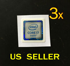3x intel CORE i7 inside Sticker Badge For PC 6th Gen Version 18x18mm