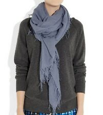 New Chan Luu Women Long Crinkle Soft Cashmere Silk Neck Scarf Wrap Cloud Grey