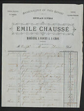 "SCOURY & CIRON (36) FORGE & MARECHALERIE ""Emile CHAUSSE"" Période 1880"