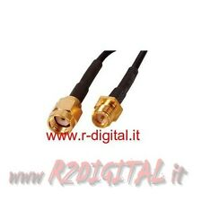 CAVO PROLUNGA SMA 10 METRI MT PER ANTENNE WIFI ROUTER RICEVITORI WIRELESS GOLD