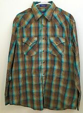 Pendleton Men's Frontier Shirt L Plaid Print Multi-color