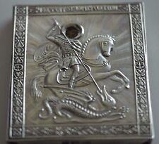 Ortodoxa icono Milagro De San Jorge De Plata Rusa 84 vintage reproducción