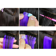 12Tabs PrecutSuper Double Sided Tape Weft Tape-in Hair  Extension ReplacementITB