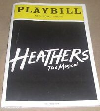 HEATHERS THE MUSICAL MAY 2014 PLAYBILL