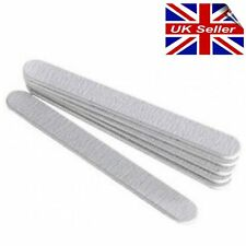 Zebra Foam Straight Nail File Boards 180 Grit For All Nails Pack of 6 STAR NAILS