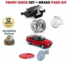 FOR NISSAN 100NX 1.6 COUPE 1991-1995 NEW FRONT BRAKE DISCS SET + DISCS PADS KIT