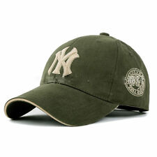 Men Women Army Green Casual Sport HipHop Adjustable NY Baseball Snapback Hat Cap