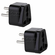 2 Pcs ISRAEL Travel Adapter Power Plug Type H Israel 3 Pin Standard for TV BOX