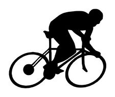 "5"" CYCLING MEN SILHOUETTE VINYL DECAL STICKER BICYCLE CAR WINDOW"
