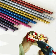 Glitter Hot Melt Glue Adhesive Sticks 100x7mm for Heating Glue Gun Pack of 30