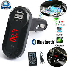 Bluetooth Wireless FM Transmitter USB TF SD Remote MP3 Player Handsfree Car Kit