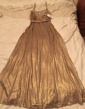 amazing Tibi gold lame floor length grecian goddess dress. net a porter.