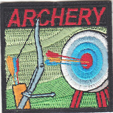 """""""ARCHERY"""" TARGET -  BOW & ARROW - SPORT - GAME - -Iron On Embroidered Patch"""