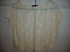 NEW CREAM COLOR LACE TOP FROM JAPAN