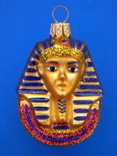 KING TUT TUTANKAHMUN EUROPEAN BLOWN GLASS CHRISTMAS ORNAMENT EGYPT
