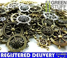 Steampunk RUDDER & HELMs Set 85 gr - Jewelery Making - Beads, Charm, Pendant