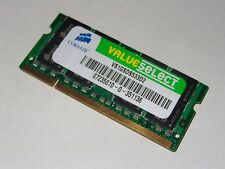 1GB DDR2 SO-DIMM 533MHZ MEMORY RAM CORSAIR VALUESELECT VS1GSDS533D2 MOBILE