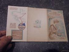 Dépliant 1900 des Anciennes Boites de Sardines Amieux Frères Illustrée tel Mucha