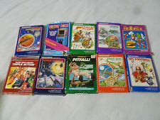 BOXED INTELLIVISION GAME LOT DONKEY KONG BURGERTIME PITFALL FROG BOG LAS VEGAS
