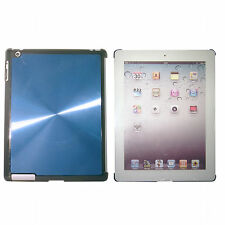 iPad 3 Blue Quality Shining Aluminium Hard Back Case Cover for Elegant Look