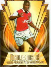 2000 Merlin Premier Gold Soccer Magic Moment Die Cut C2 Nicolas Anelka
