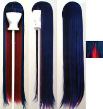 """42'' Long Straight """"Stocking"""" Blue Pink Cosplay Wig NEW"""