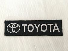 TOYOTA COROLLA CAR BLACK WHITE COLOR SEWING IRON ON EMBROIDERED PATCH