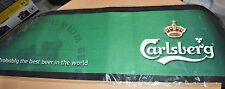 "BRAND NEW Carlsberg Beer Bar Glass Mat 34"" X 10"""