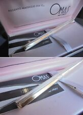 OMAS 72 IN ARGENTO 925 PENNA A SFERA +SCATOLA +GAR Silver Ball Pen + Box ORIGIN