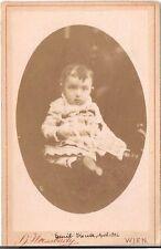 H. Weissbach CDV photo Niedliches kleines Kind - Wien um 1880