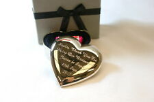 Personalised Heart in Gift Box For Valentines Day/Girlfriend/Bridesmaid/Mum/Nan