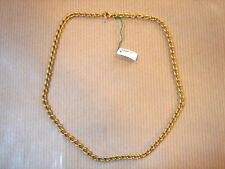CHAINE PLAQUE OR MAILLE MEDIUM LONG 38 CM 10 GRS VINTAGE NEUF/GOLD PLATED CHAIN