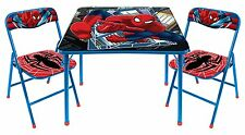 Spiderman Marvel Super Hero Kids Activity Folding Table and Two Chairs Set NEW