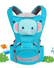 Baby carrier hip seat 3 In 1 Blue Elephant