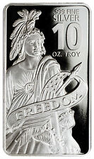 Statue of Freedom 10 Troy oz. .999 Fine Prooflike Silver Bar SKU44151