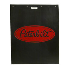"Peterbilt Motors 24"" x 30"" Polyguard 3/16"" Thick Semi Truck Black Mud Flaps-Pair"