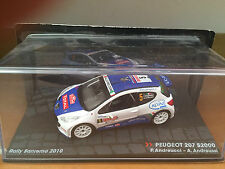 """DIE CAST """" PEUGEOT 207 S2000 RALLY SANREMO 2010 """" PASSIONE RALLY SCALA 1/43"""