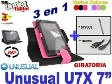 "Pack 3 en 1 FUNDA PARA TABLET UNUSUAL U7X 7"" 7 PULGADAS UNIVERSAL"
