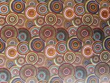 MUGUNGALYI CIRCLES MULTI ABORIGINAL ART PRINT COTTON DRESSMAKING CRAFT FABRIC