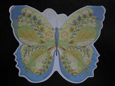 Carol Wilson Cards Gift Enclosure Set 6 Cards Envelopes Blue Yellow Butterfly